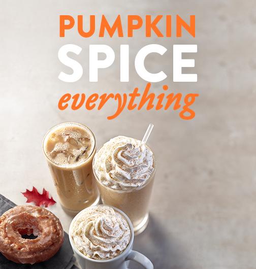 Pumpkin Spice Doughnut Promotion