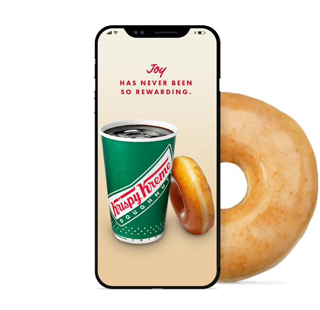 Earn Rewards with the Krispy Kreme app